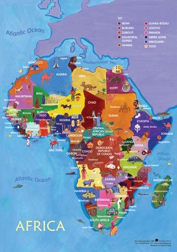 africa map in gujarati