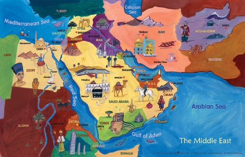 Map of the middle east world maps gumiabroncs Gallery
